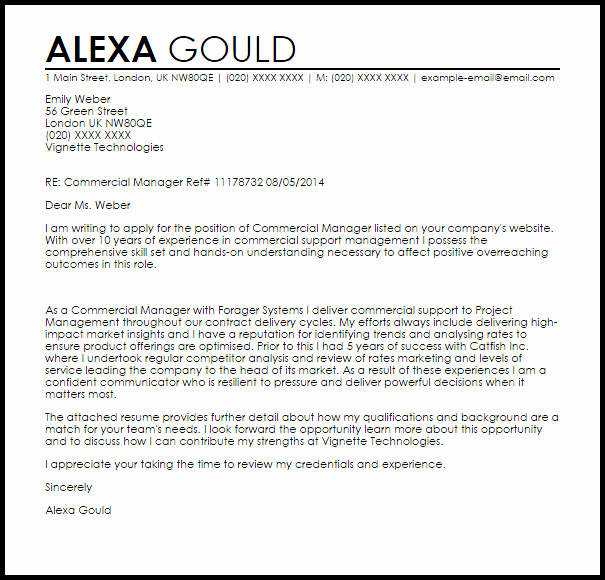 New Sales Rep Introduction Email Luxury Mercial Manager Cover Letter Sample