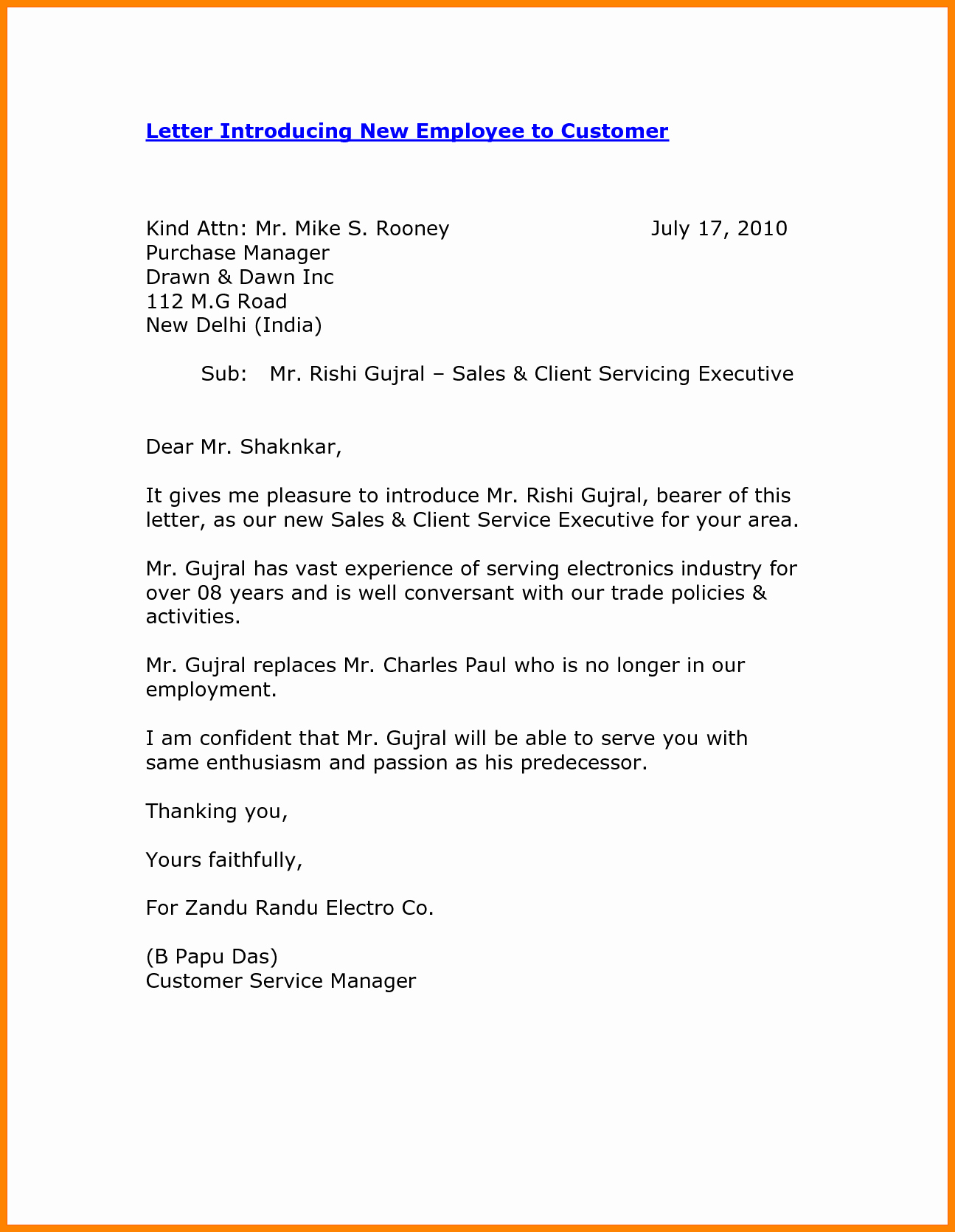New Sales Rep Introduction Email New 8 Self Introduction Email Sample for New Employee