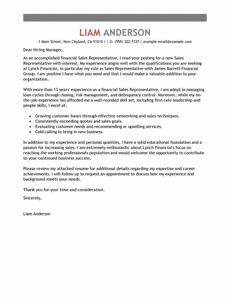 New Sales Rep Introduction Email Unique Best Sales Representative Cover Letter Examples
