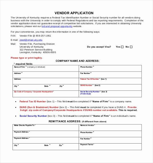 New Vendor Setup form Excel Template Fresh Vendor Application Template – 9 Free Word Pdf Documents