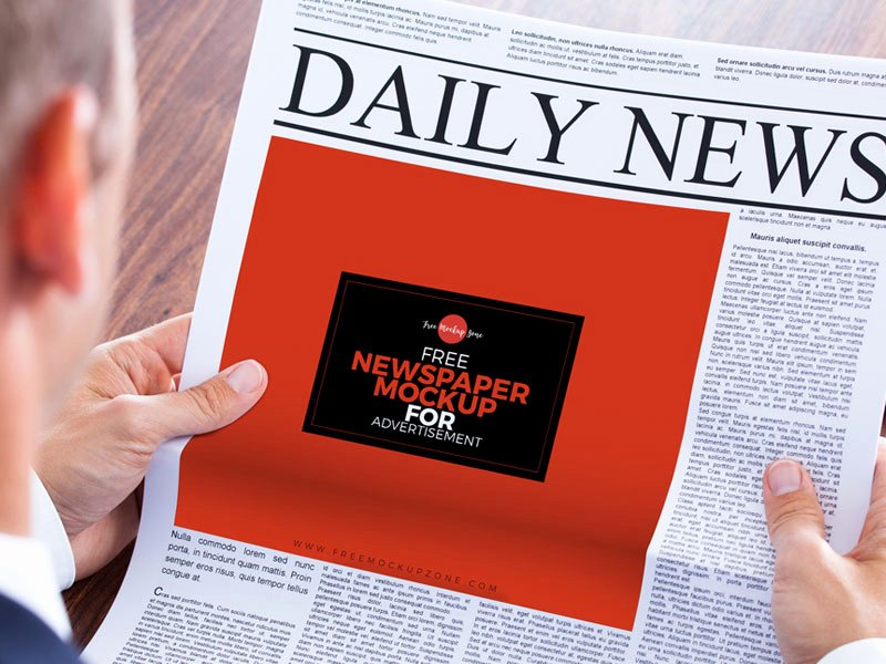 Newspaper Advertisement Template Awesome 20 Free Great Mockup Collection for Graphic Design