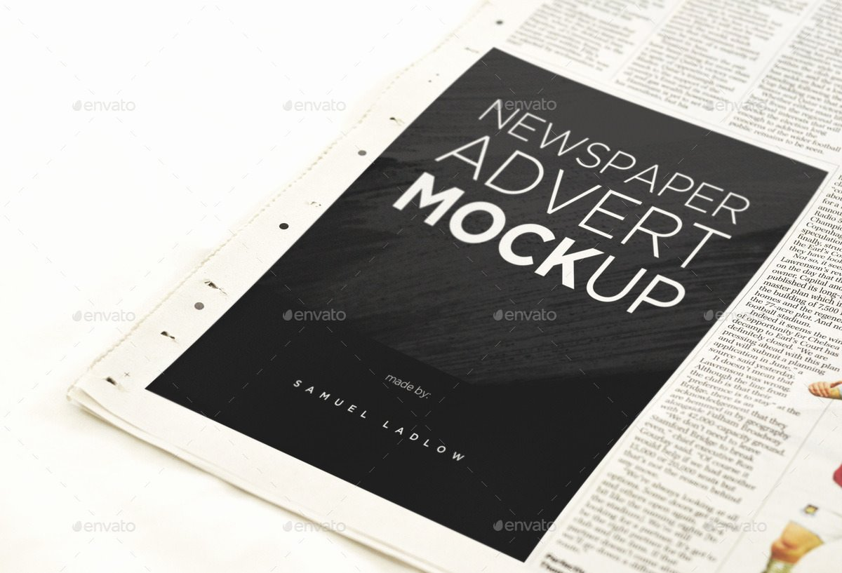 Newspaper Advertisement Template Fresh 17 Free and Premium Advertisement Mockups Psd Download