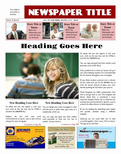 Newspaper Advertisement Template Luxury Free Newspaper Templates Print and Digital