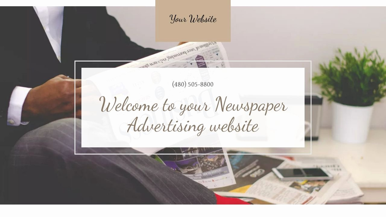 Newspaper Advertisement Template New Example 17 Newspaper Advertising Website Template
