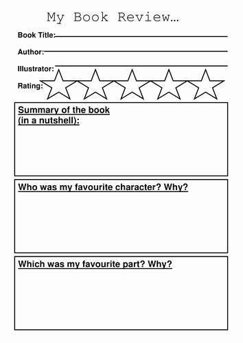 Newspaper Book Report Template Awesome Book Review Template by Sibrooks Teaching Resources Tes