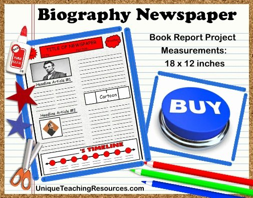 Newspaper Book Report Template Best Of Biography Book Report Newspaper Templates Printable