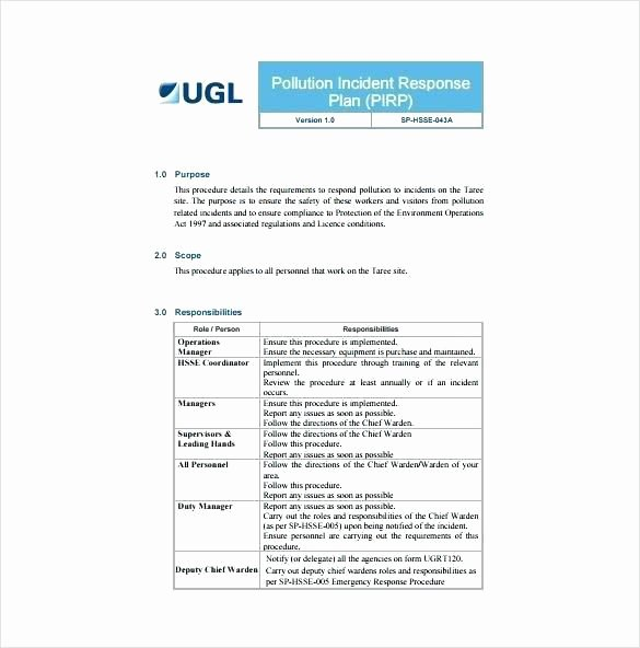 Nist Incident Response Plan Template Luxury 29 Incident Response Plan Template Sans Virtual Document