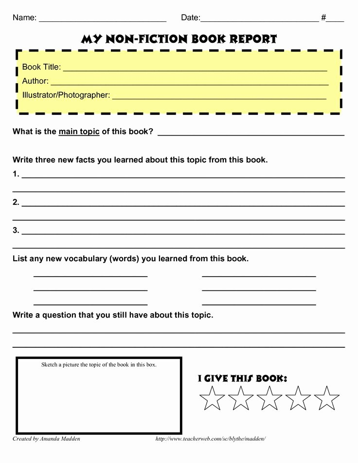 Non Fiction Book Report Template Awesome 25 Best Ideas About Book Report Templates On Pinterest