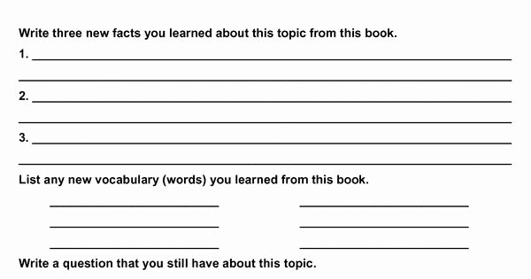 Non Fiction Book Report Template Fresh My Non Fiction Book Report School Of Mom