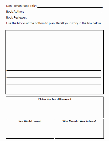 Non Fiction Book Report Template Inspirational Book Review Blackout