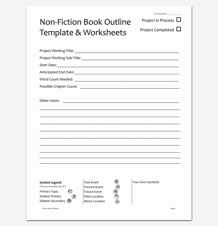 Non Fiction Book Report Template Unique Novel Outline Template 11 for Word Excel & Pdf format