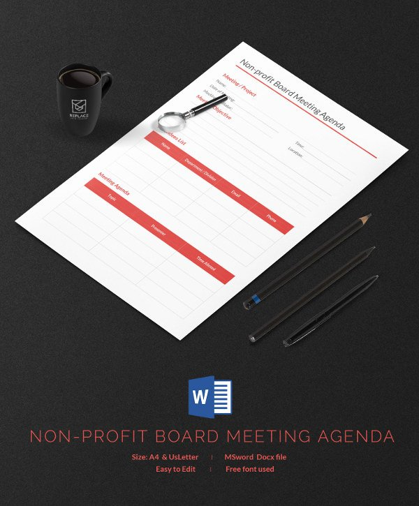 Non Profit Meeting Minutes Template Best Of 13 Free Agenda Template Meeting Business Weekly