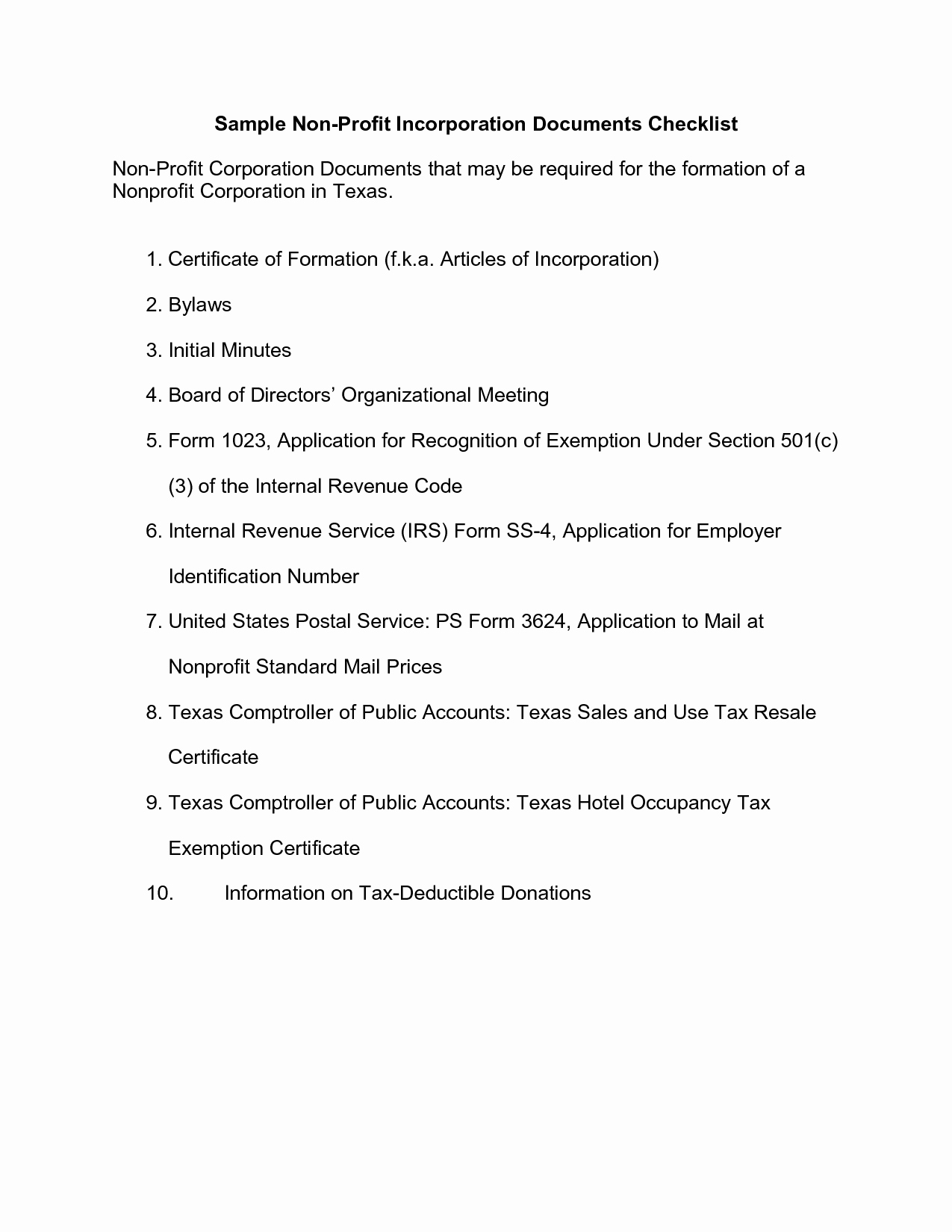 Non Profit Meeting Minutes Template Lovely Best S Of Texas Corporate bylaws Template Divorce