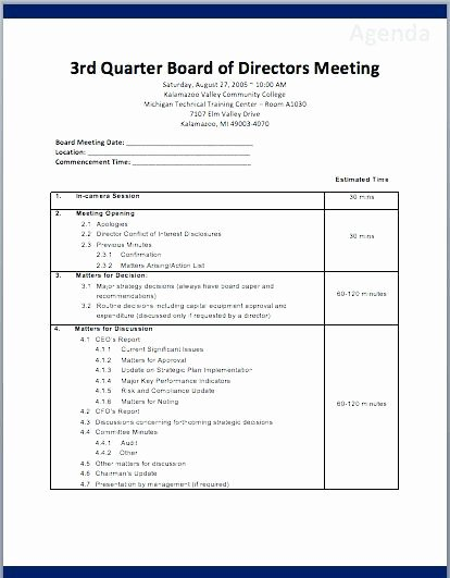 Non Profit Meeting Minutes Template New 15 Nonprofit Board Meeting Agenda Template