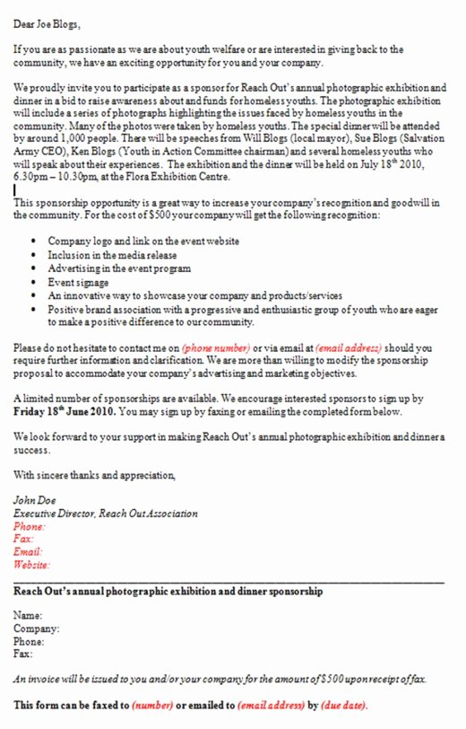 Non Profit Sponsorship Package Template Beautiful Guide to Securing Sponsorship and Preparing A Sponsorship