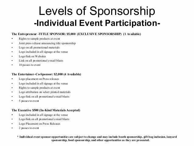 Non Profit Sponsorship Package Template Beautiful Image Result for Music event Sponsorship Proposal