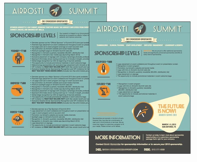 Non Profit Sponsorship Package Template Best Of March 13 event Sponsorship Flyer