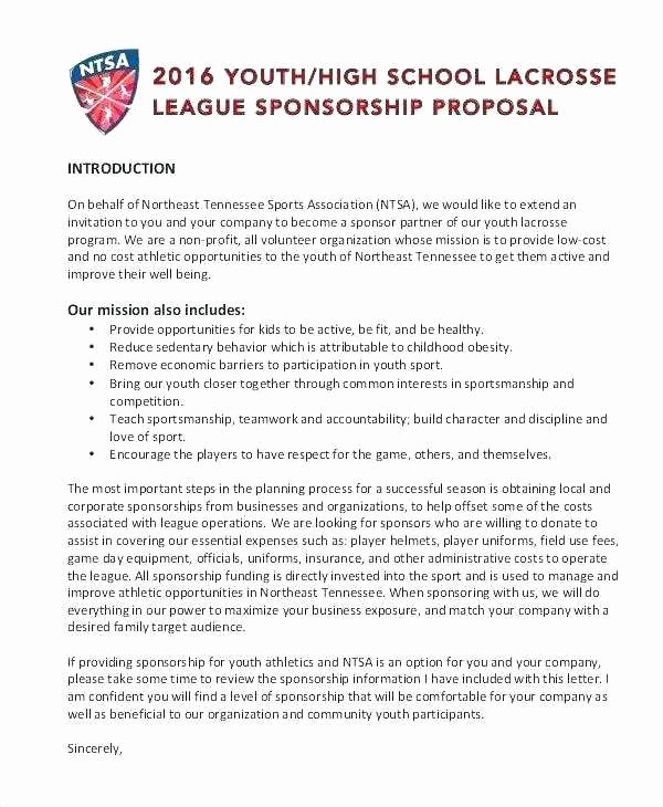 Non Profit Sponsorship Package Template Elegant 18 Best Sponsorship Proposal Sample Gallery