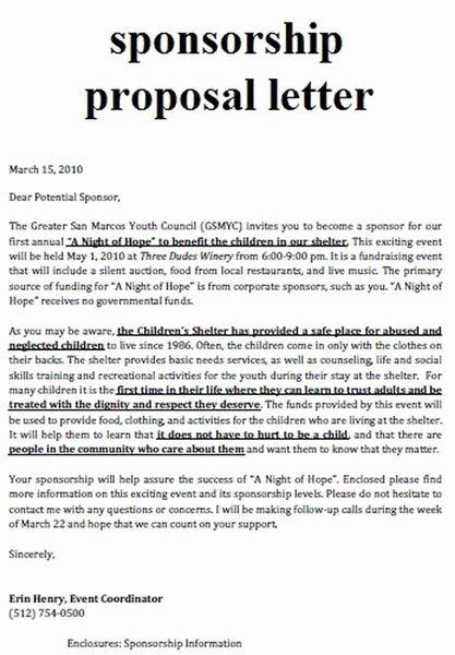 Non Profit Sponsorship Package Template Elegant 25 Best Ideas About event Proposal On Pinterest