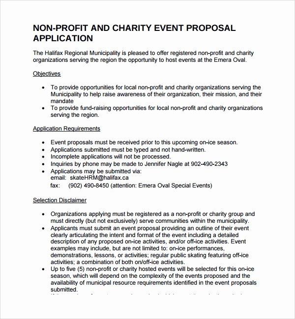 Non Profit Sponsorship Package Template Fresh 12 Non Profit Proposal Templates