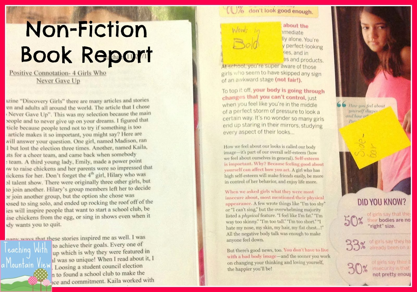 Nonfiction Book Report Template Awesome Teaching with A Mountain View Non Fiction Newspaper or