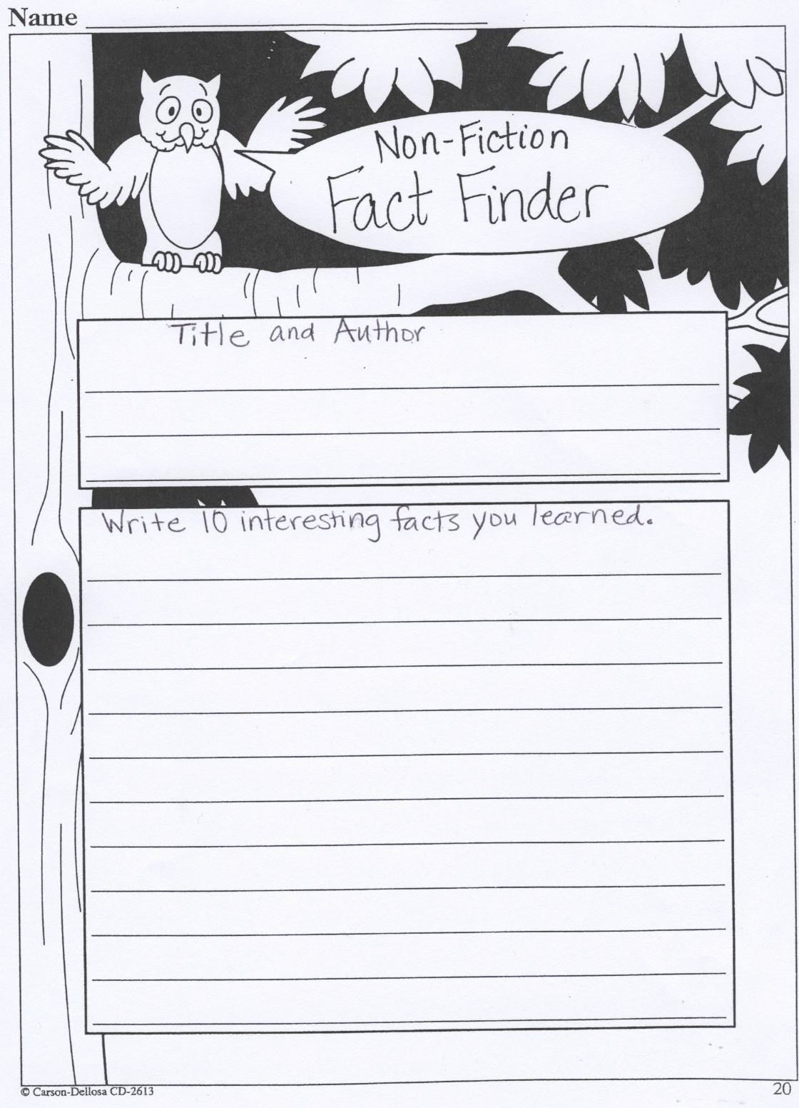 Nonfiction Book Report Template Elegant Ms Hill S Fifth Grade Non Fiction Book Report forms