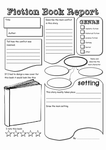 Nonfiction Book Report Template Lovely Fiction & Non Fiction Book Report by tokyo Molly