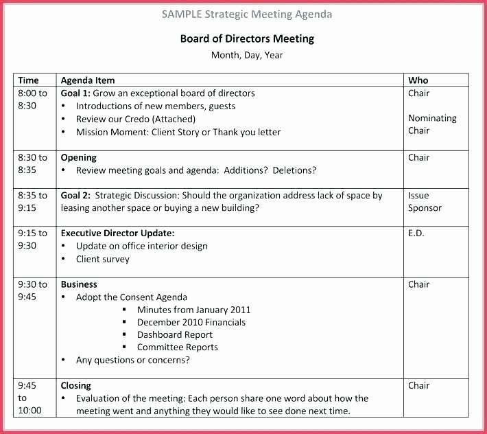 Nonprofit Board Meeting Minutes Template Luxury 15 Nonprofit Board Meeting Agenda Template
