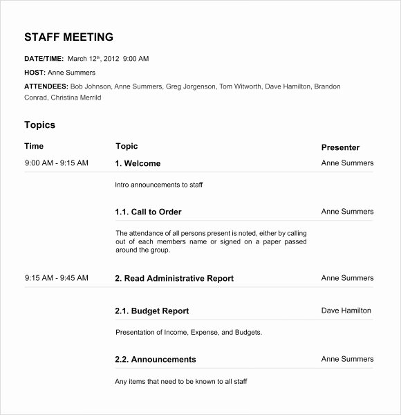 Nonprofit Board Meeting Minutes Template Luxury Nonprofit Board Meeting Agenda Template
