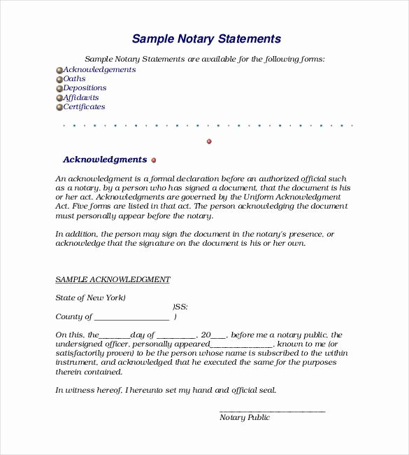 Notary Public Letter Template Awesome 32 Notarized Letter Templates Pdf Doc