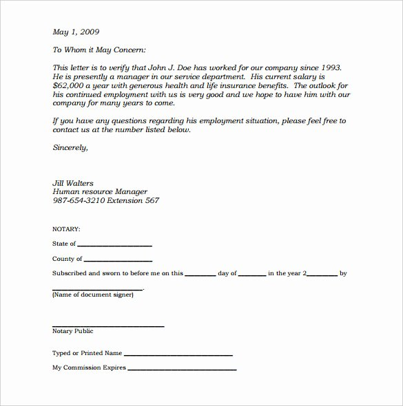 Notary Public Letter Template Awesome Notary Document Sample