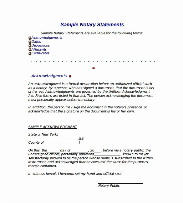 Notary Public Letter Template Best Of Notary Document Sample