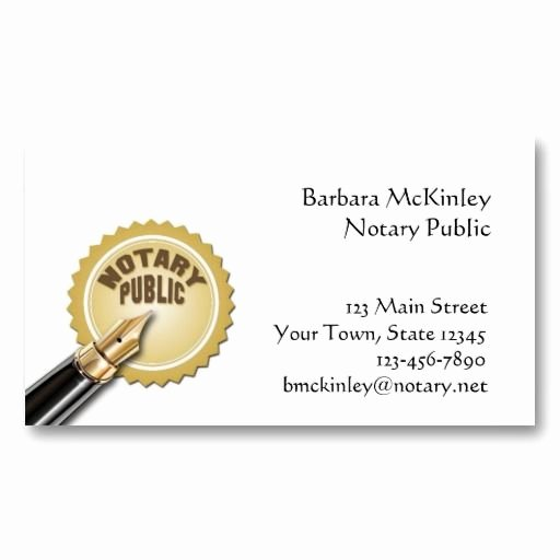 Notary Public Letter Template Fresh Notary Public Business Card