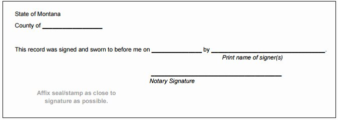 Notary Public Signature Line Template Awesome Montana Notary Public Handbook