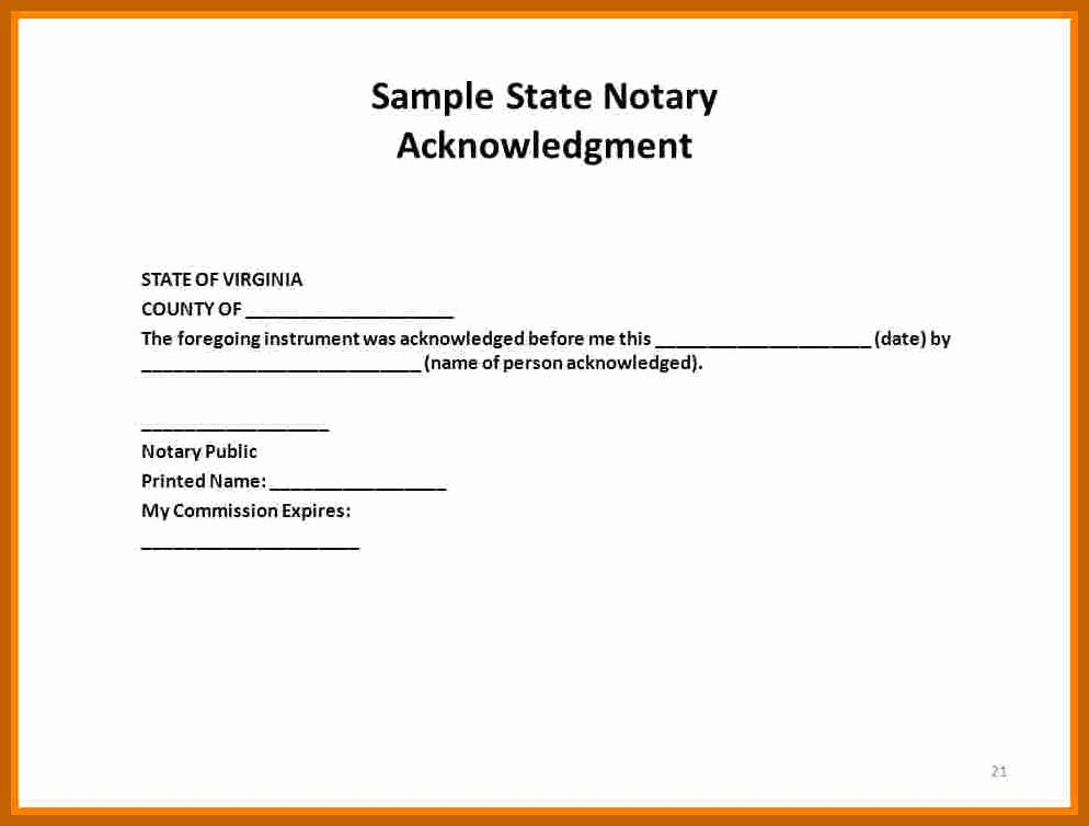 Notary Public Signature Line Template Luxury 5 6 Notary Public Template
