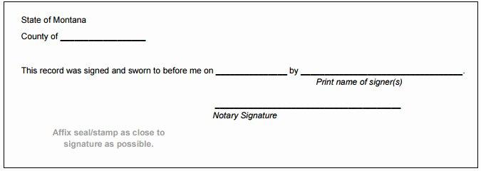 Notary Signature Block Elegant Montana Notary Public Handbook