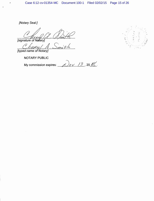 Notary Signature Block Lovely Roark V Usa Plaintiff S Reply and Response