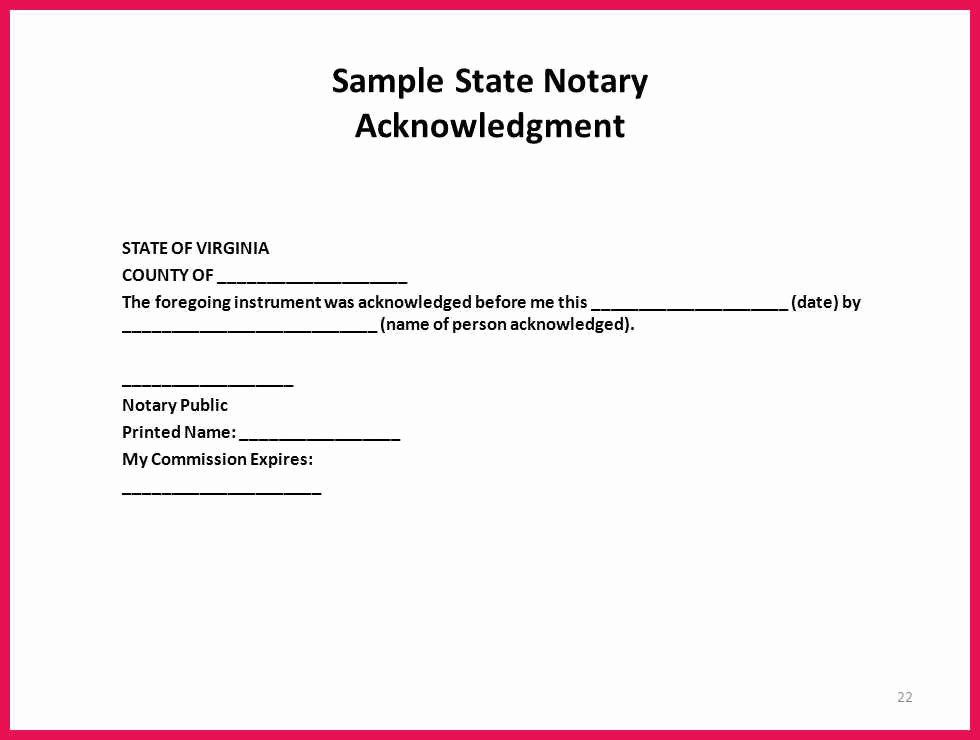 Notary Signature Block Template Luxury Sample Notary Signature Block
