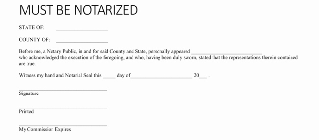 Notary Signature Template Best Of 25 Notarized Letter Templates & Samples Writing Guidelines