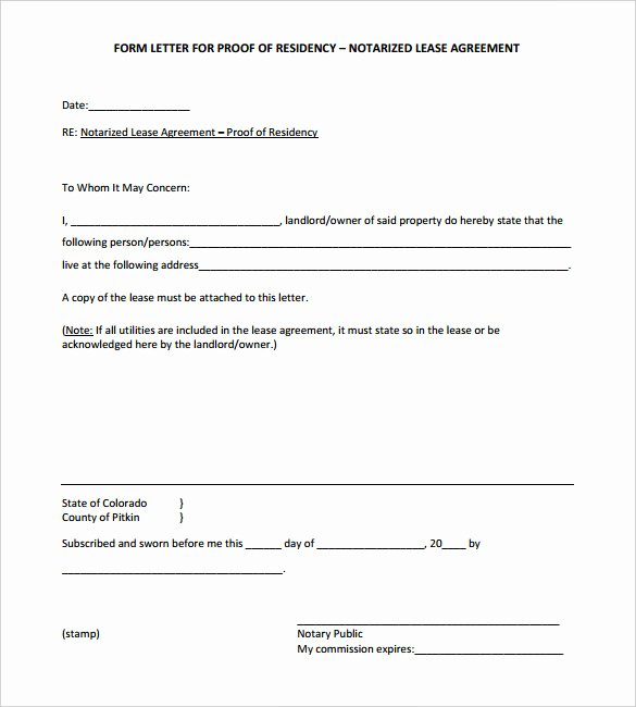 Notary Signature Template Inspirational 32 Notarized Letter Templates Pdf Doc