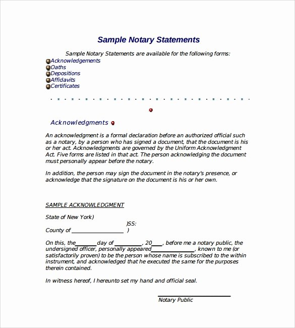 Notary Signature Template Unique 10 Sample Notarized Letters Pdf Word