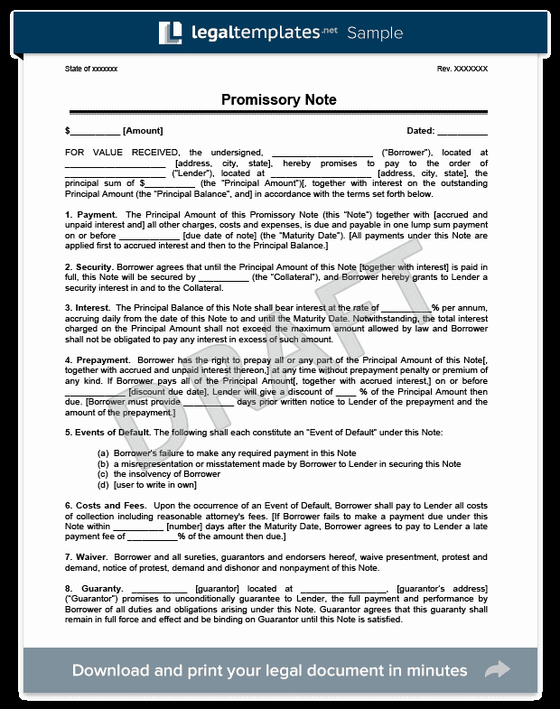 Note Receivable Template Beautiful assignment Of Mortgage and Promissory Note Ers