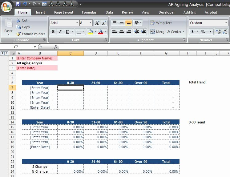 Note Receivable Template Lovely Accounts Receivable Analysis Template Download