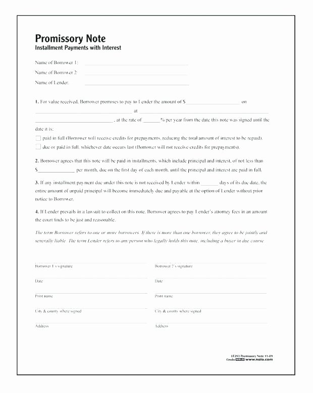 Note Receivable Template Unique form Promissory Note Template Us Legal forms Sample