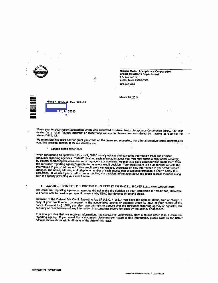 Notice Of Repossession Letter Template Beautiful Pre Adverse Action Letter
