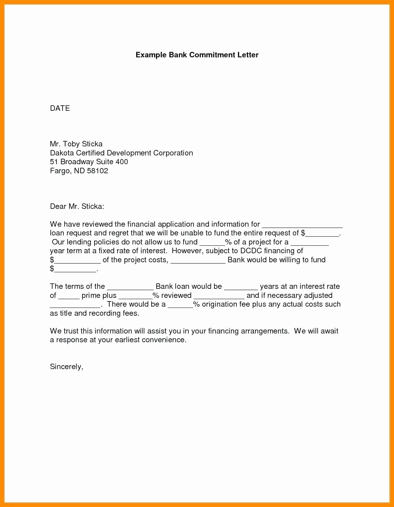 Nsf Letter Of Collaboration Template Elegant Letter Mitment Template
