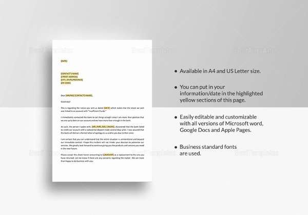 Nsf Letter Template Elegant Apology Letter Templates 15 Free Word Pdf Documents