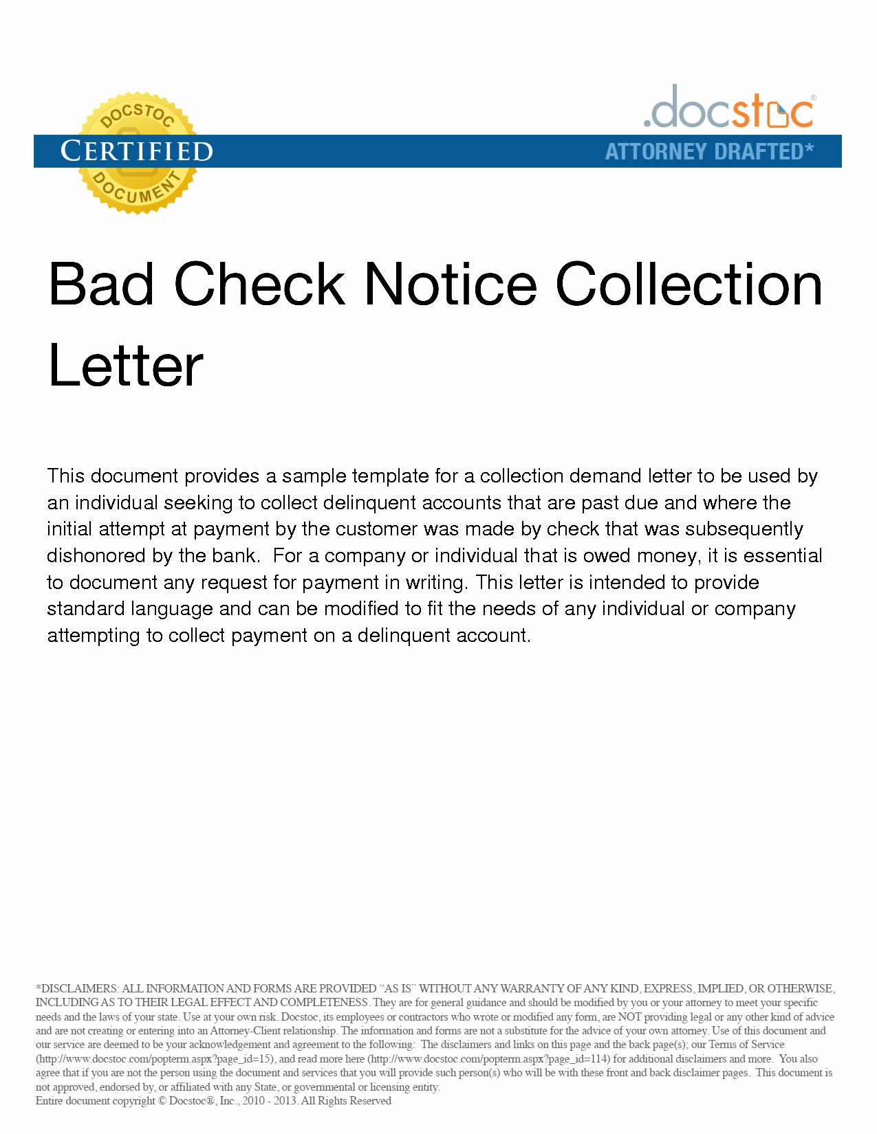 Nsf Letter Template Lovely Returned Check Letter Template Cover Letter Samples