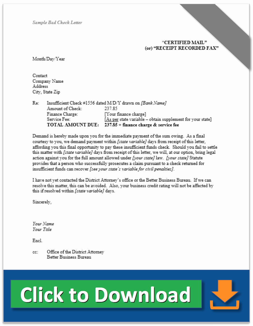 Nsf Letter Template Luxury Collection Letter Samples