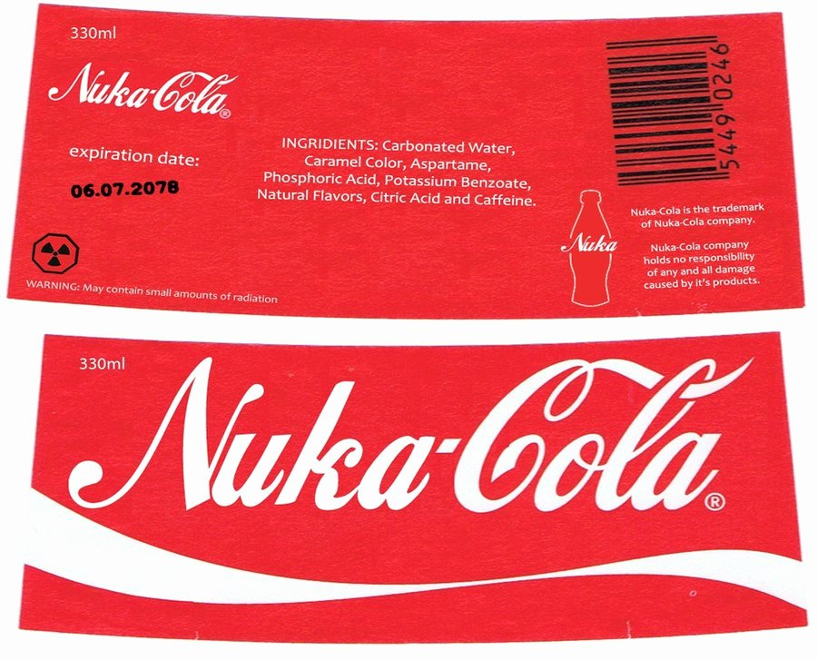 Nuka Cola Quantum Label Template Awesome Nuka Cola Label by Nig 1988 On Deviantart